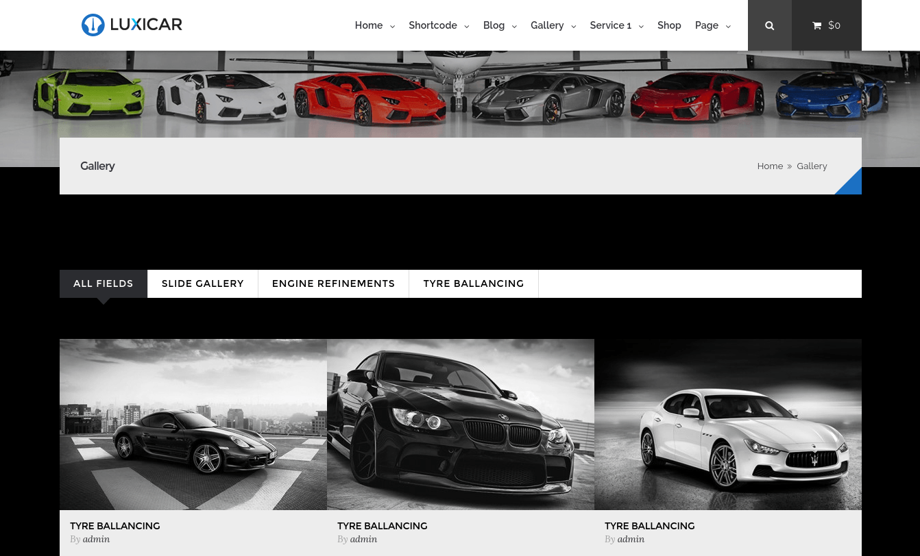 Gallery Page of Luxicar