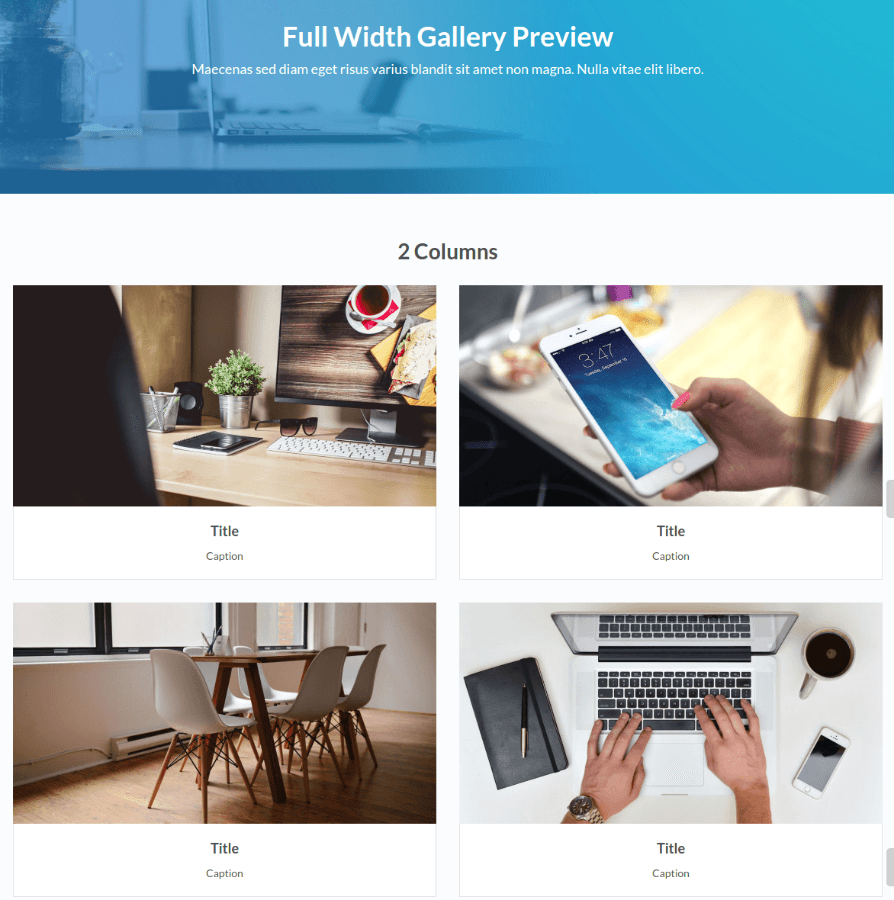 Gallery page of Stratus