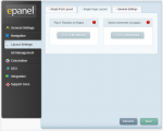 Gleam - ePanel - Layout settings - Single page layout