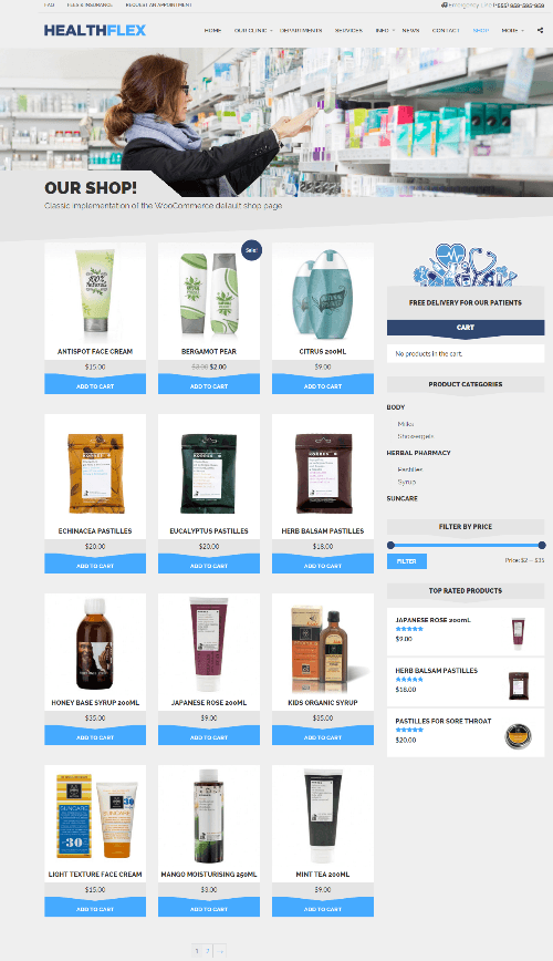 HEALTHFLEX - Shop page