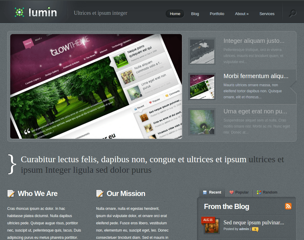 Home Page of Lumin