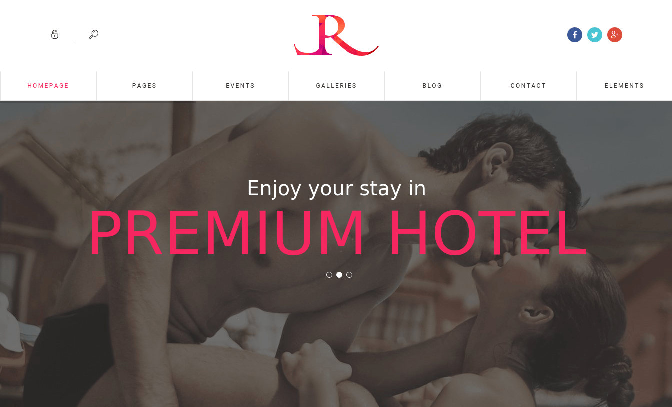 Home Page of Luxury Resort