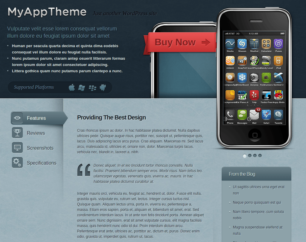 Home Page of MyApp