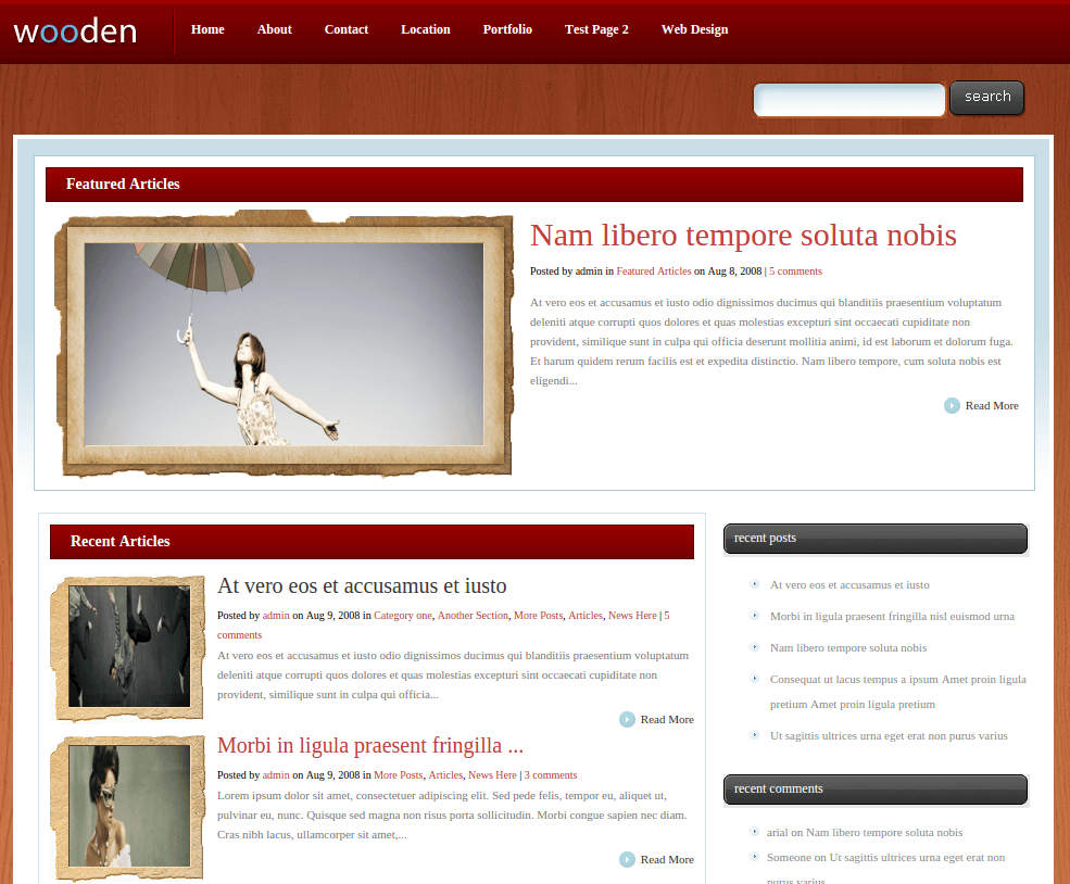 Home Page of Wooden