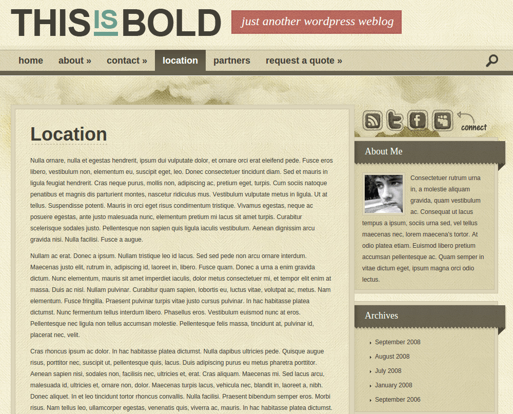 Location Page of Bold