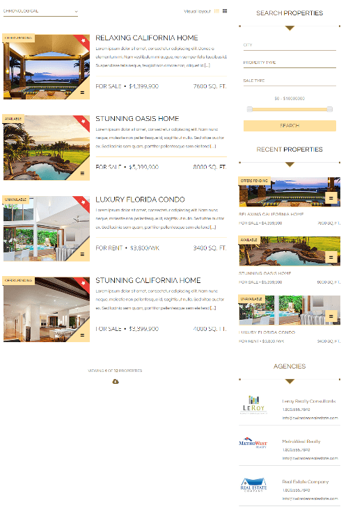Luxor - Properties page