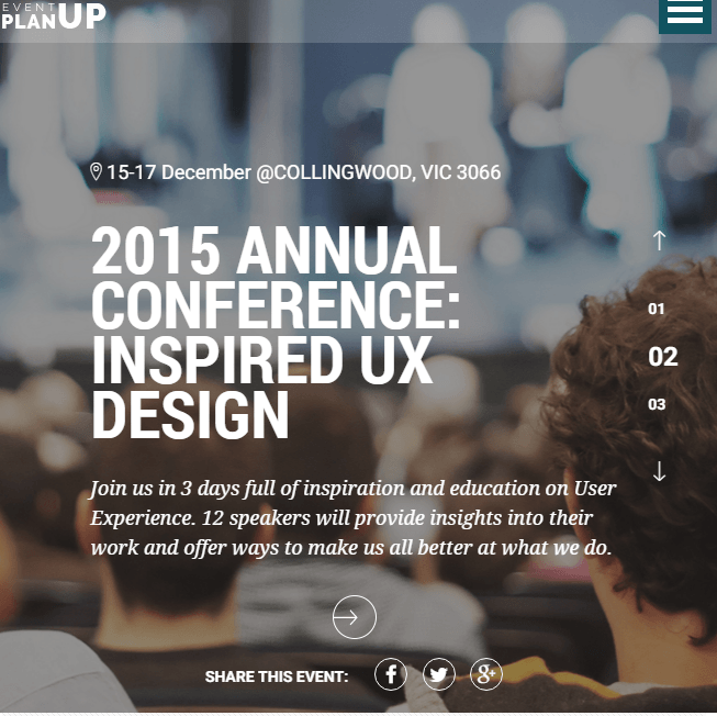 Planup - Event based WP theme