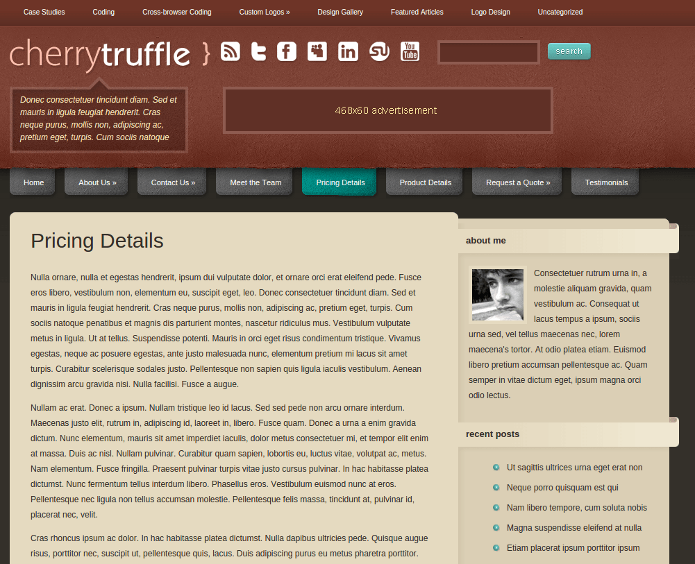 Pricing Page of CherryTruffle