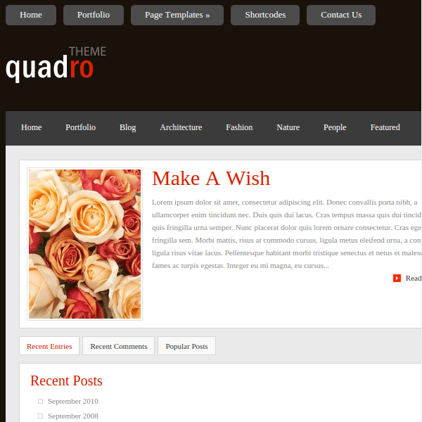 Quadro WordPress Theme