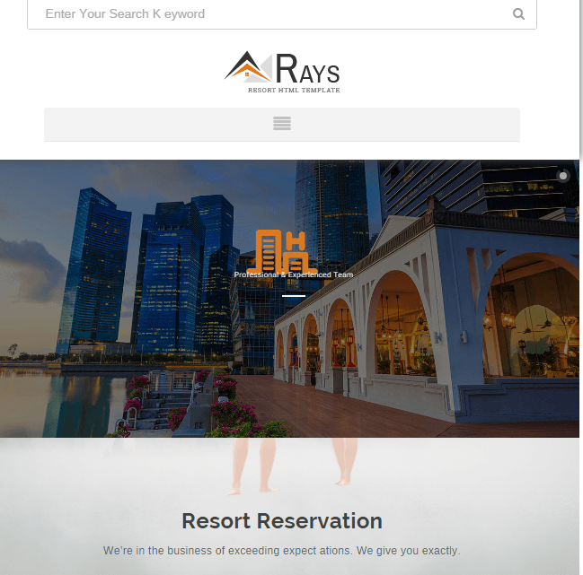 Rays - Multipurpose Booking and Payment system theme