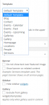 Resurrect - Page options and templates