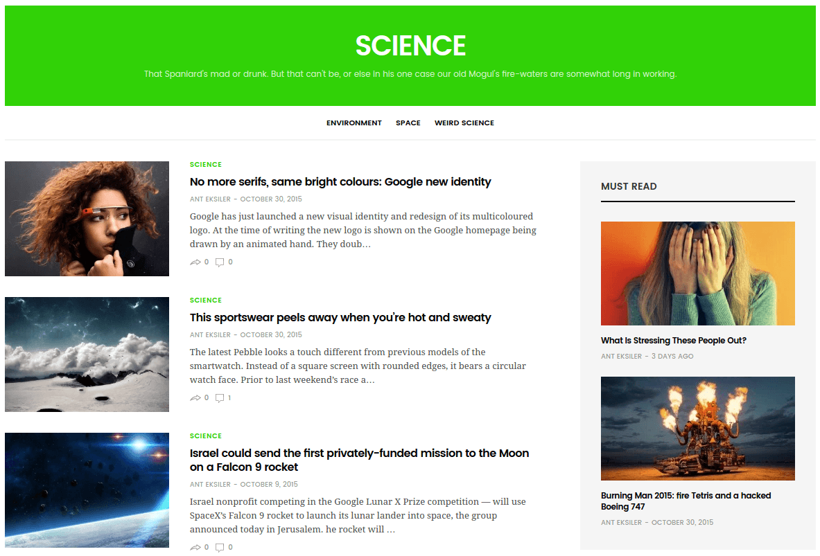 Science Page of GoodLife