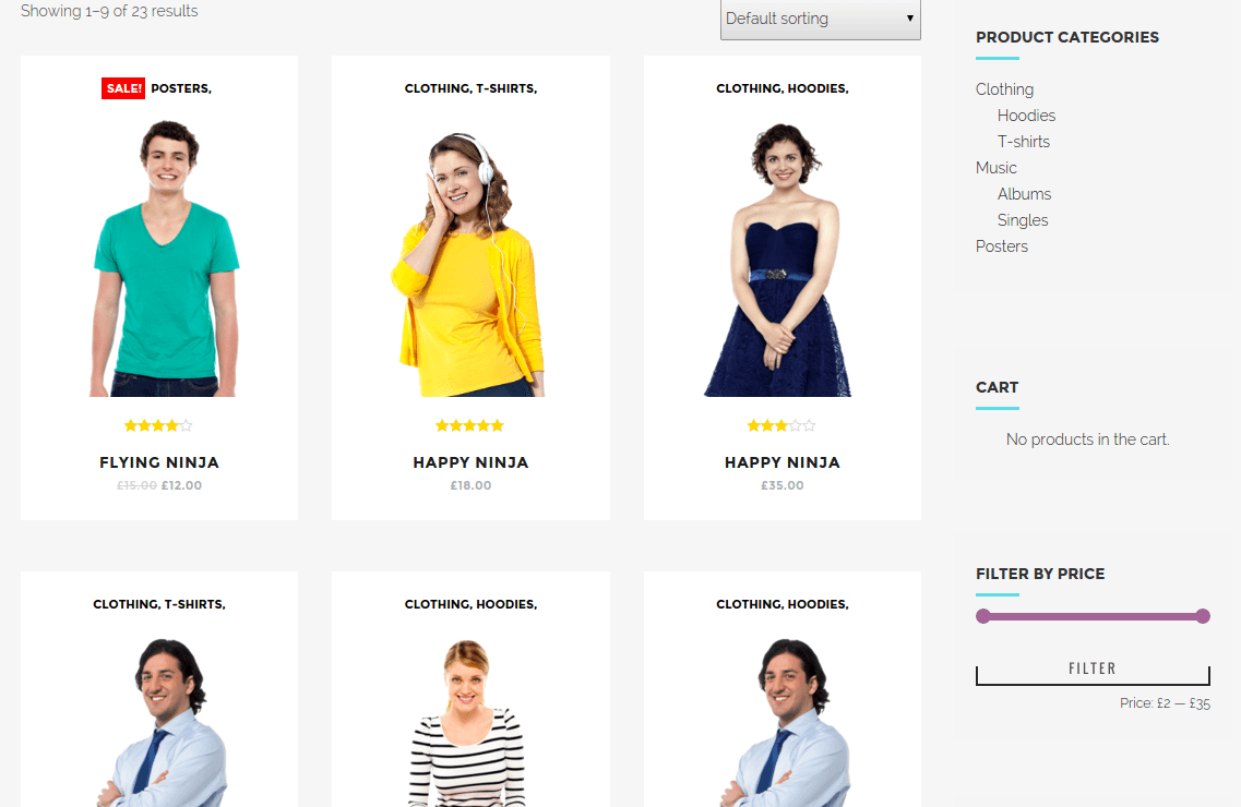 Shop Page of Oscar