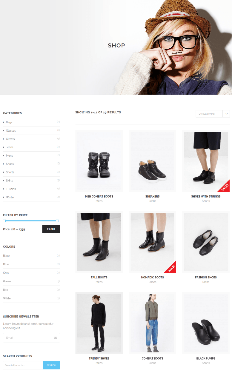 Shop page of Ruby