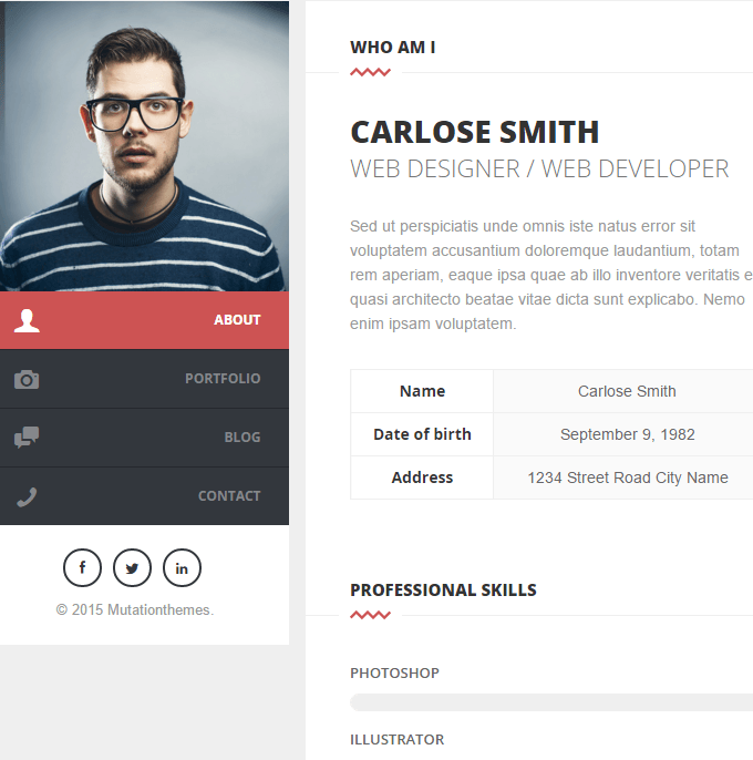 Split - Personal CV and Resume making WP theme