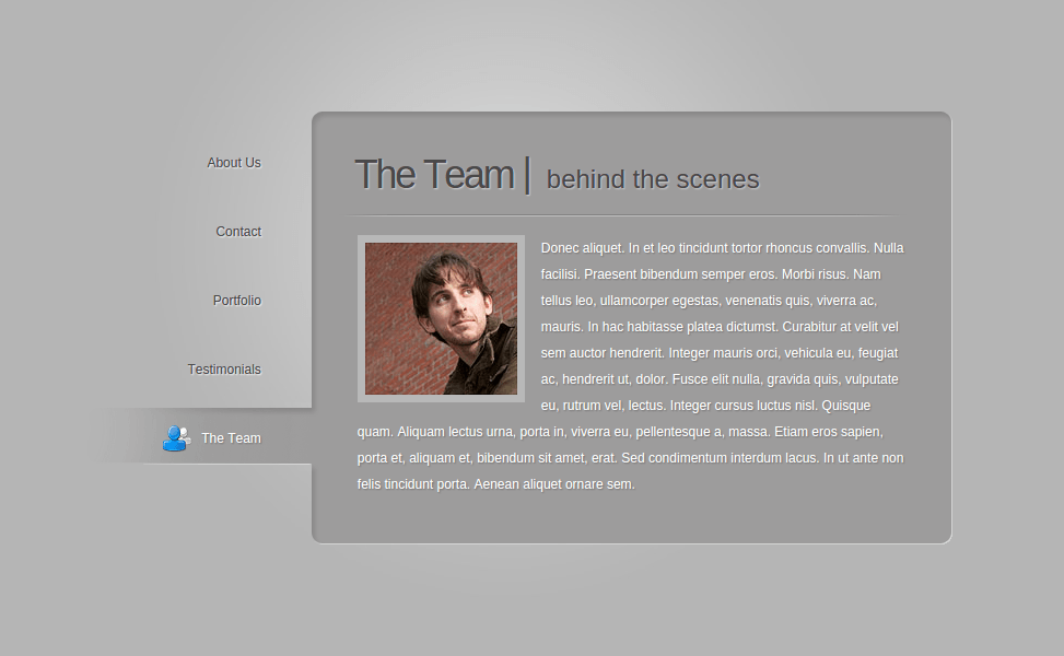 The Team Page of BusinessCard