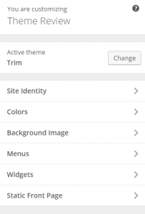 Trim - Live customizer