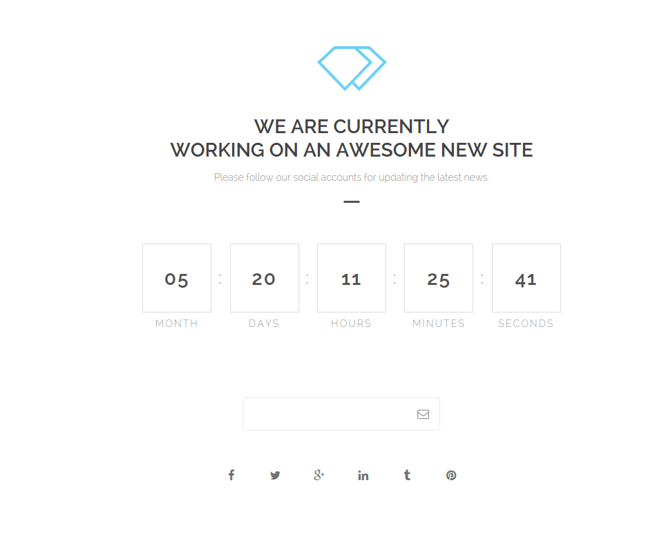 Under Construction page of Ruby