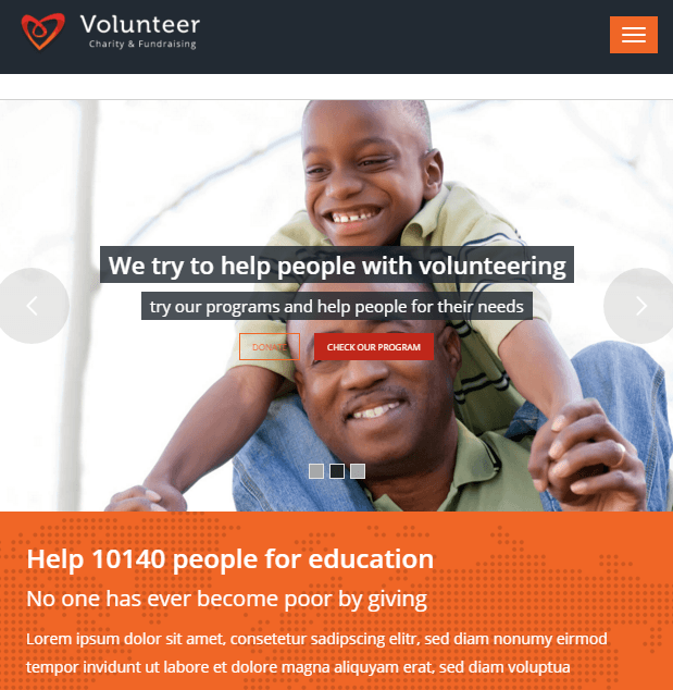 Volunteer - Charity and Fundraising WP theme
