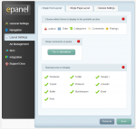 ePanel - Layout settings
