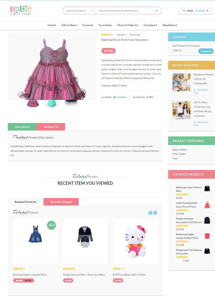 Baby and kids store - Kids clothes