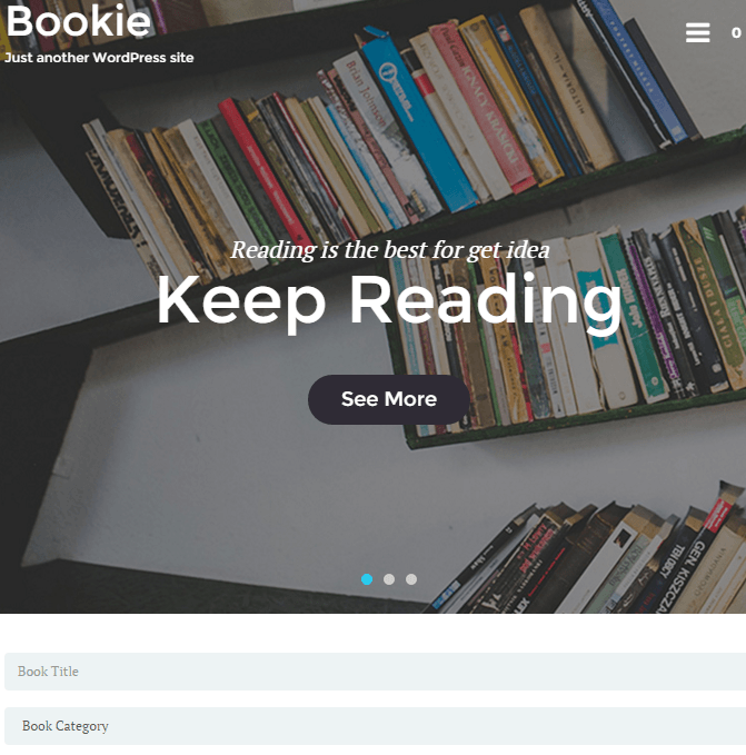 Bookie - WP Theme for Book Store.