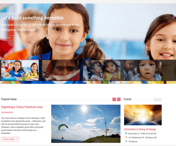 Charitas - WP Theme for Churches and Non Profit organizations.
