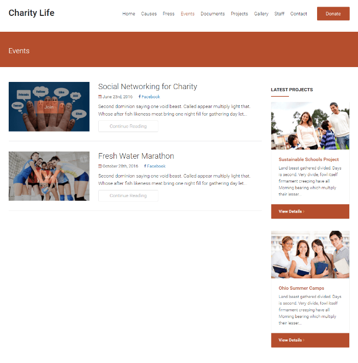 Charity Life - Events