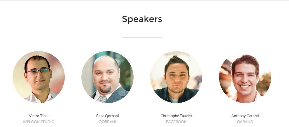 Conference - speakers