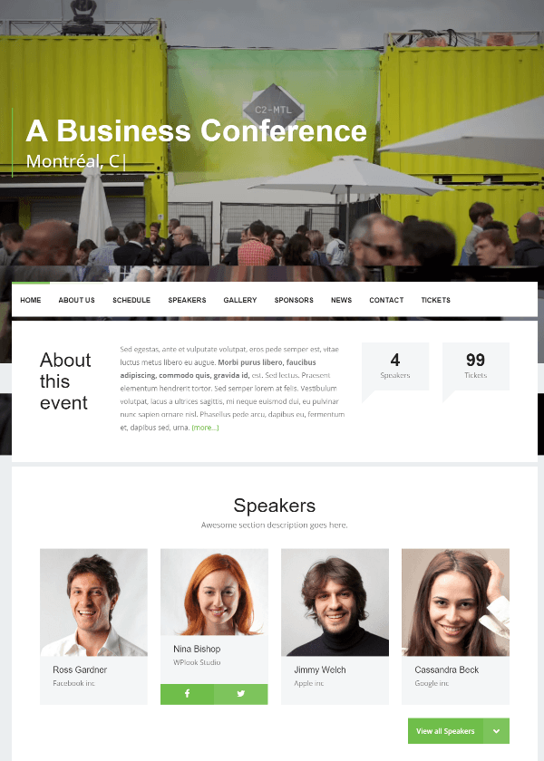Event - Homepage