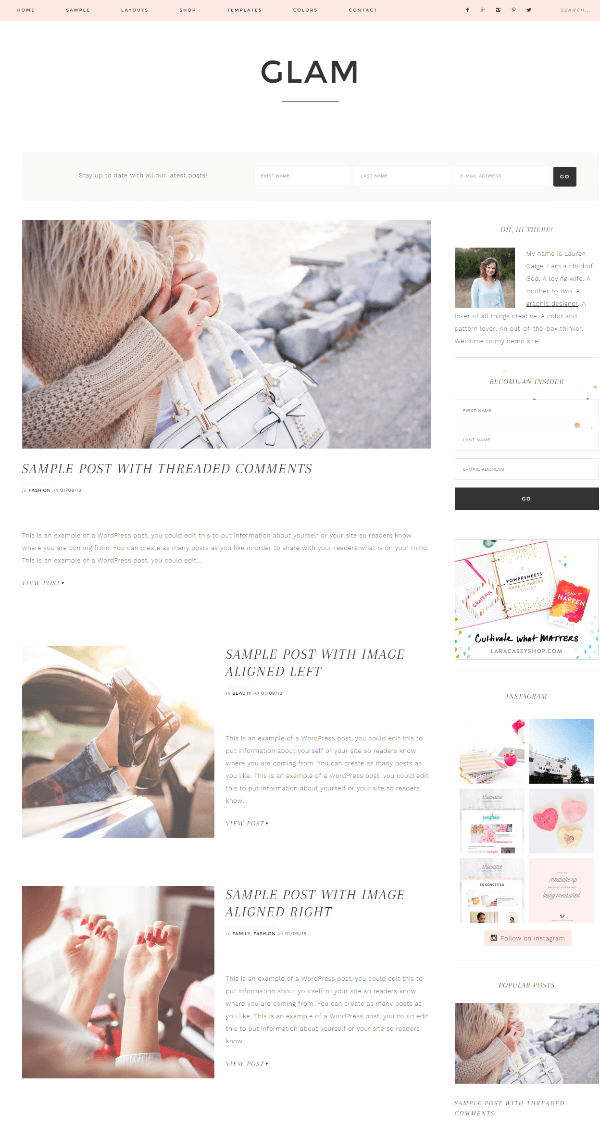 Glam Pro - Blog page