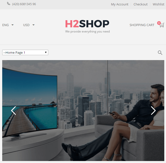 H2shop - Responsive Multipurpose WooCommerce WP Theme