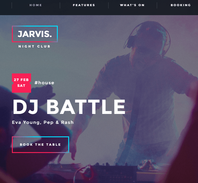 Jarvis - WP Theme for party websites, night clubs etc