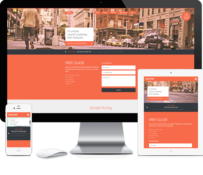 Kickstart Pro - Startup WordPress Business Theme
