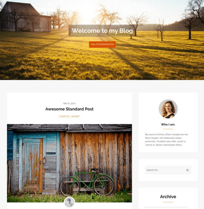 Morning Time - WP Theme for Personal Blogs.