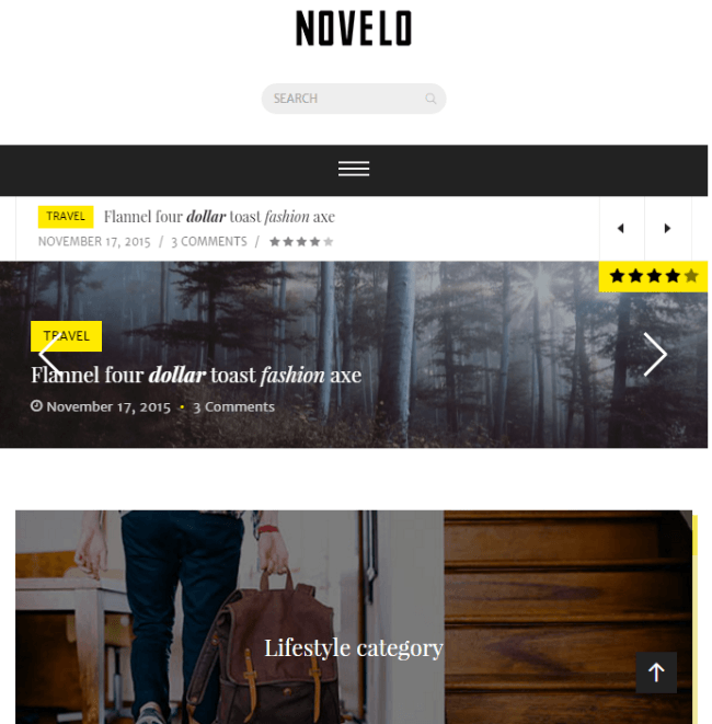 Novelo - Responsive Blog WordPress theme