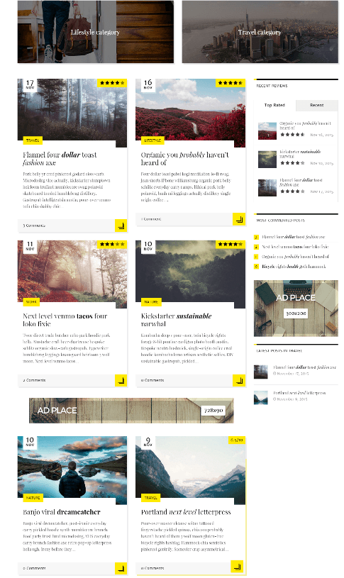 Novelo - blog in grid layout