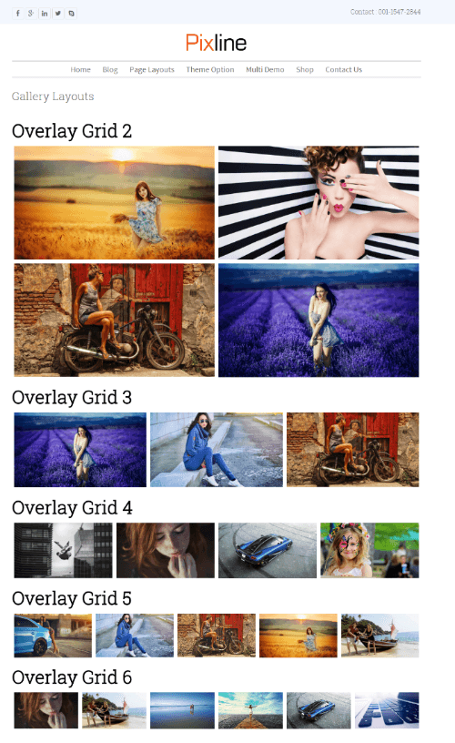 PixLine - Gallery Layouts