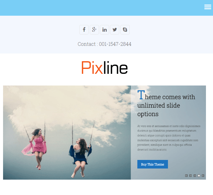 PixLine - Multipurpose WP Theme