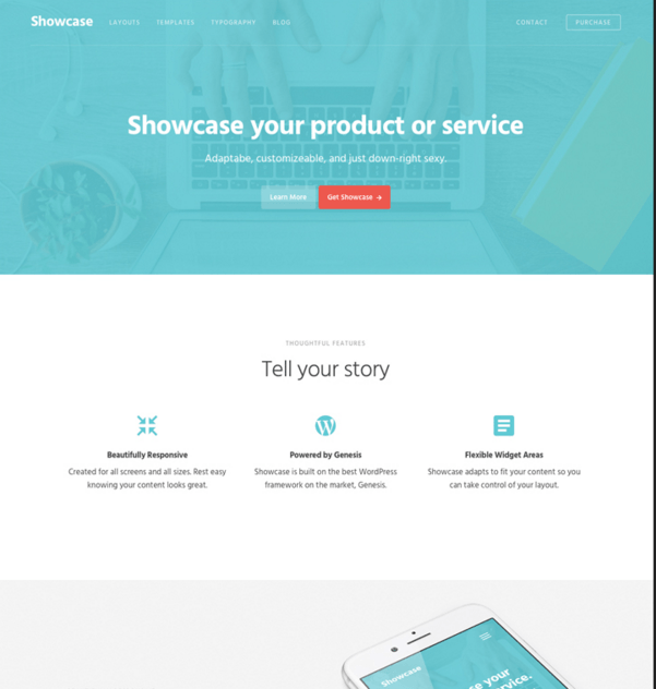 Showcase Pro - WordPress theme to showcase products and services
