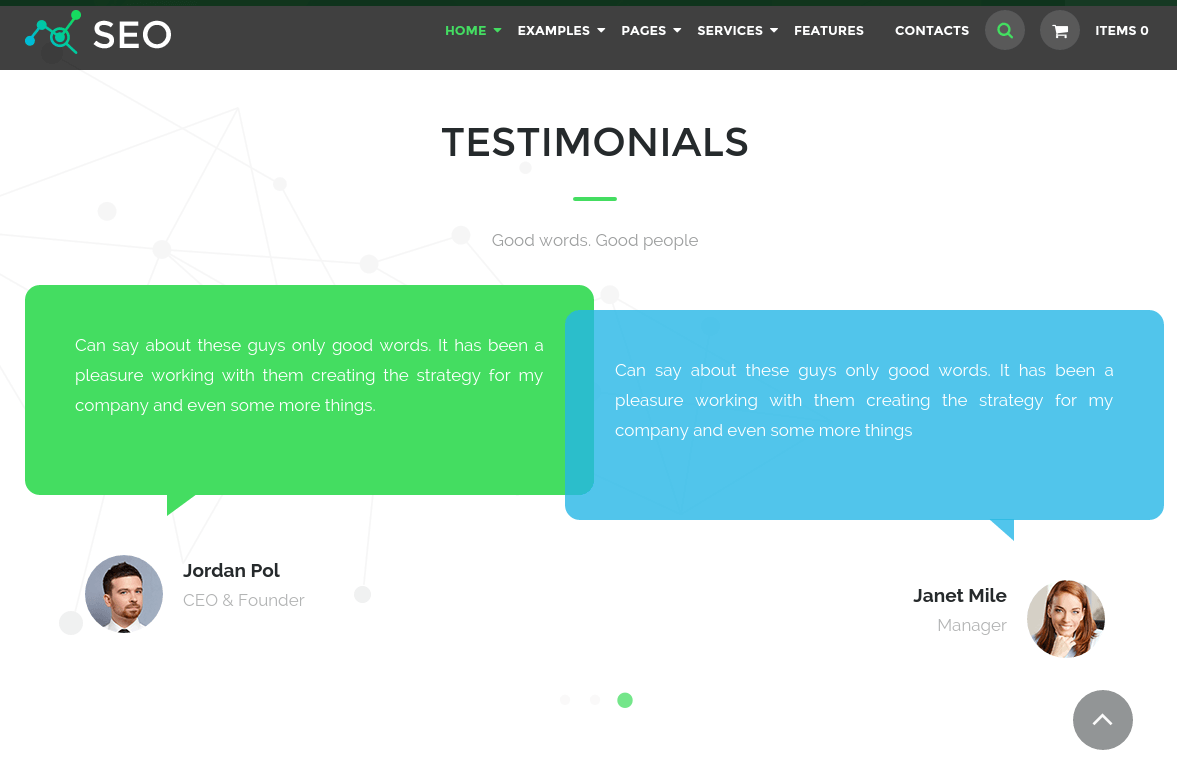 Testimonial Section of The SEO
