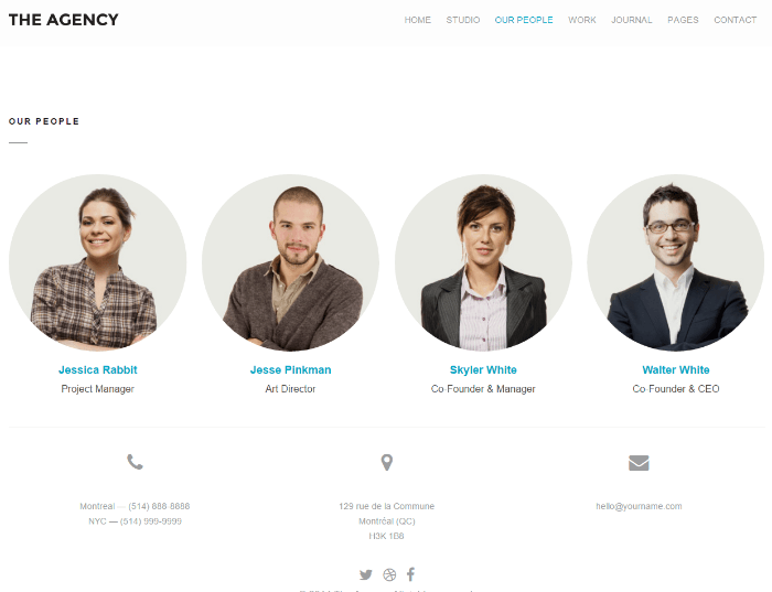 The Agency - team page
