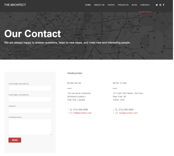 The Architect - Contact us