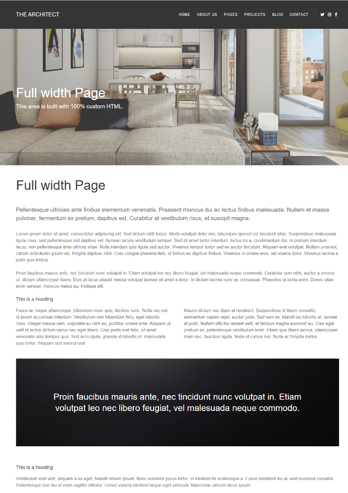 The Architect - full width page
