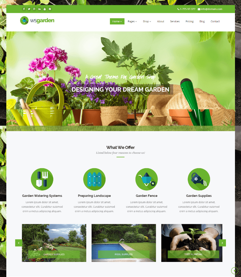 WS Garden - Boxed style homepage